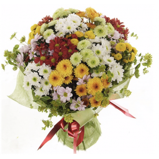 MIXED CHRYSANTHEMUMS BOUQUET !