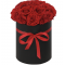 HAT BOX ARRANGEMENT WITH RED ROSES