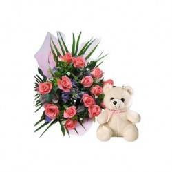BOUQUET GIFT SET WITH THE BEAR